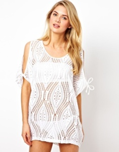 Lace cold shoulder cover-up! Love this!