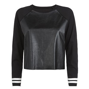 Long sleeve PU top