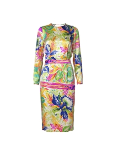 For a serious splash of colour this silk dress by Malene Birger, paired with nude heels & pink lippy is sure to get you noticed!