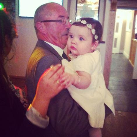 Dancing with her grandad x