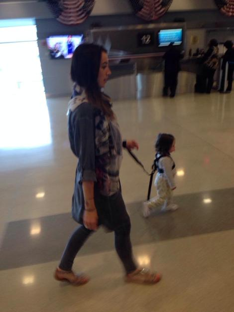 Diono harness was very handy walking through the airports