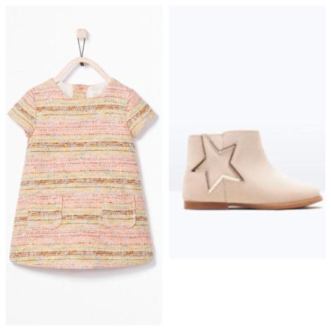 Jacquard Dress and ankle boots - Zara