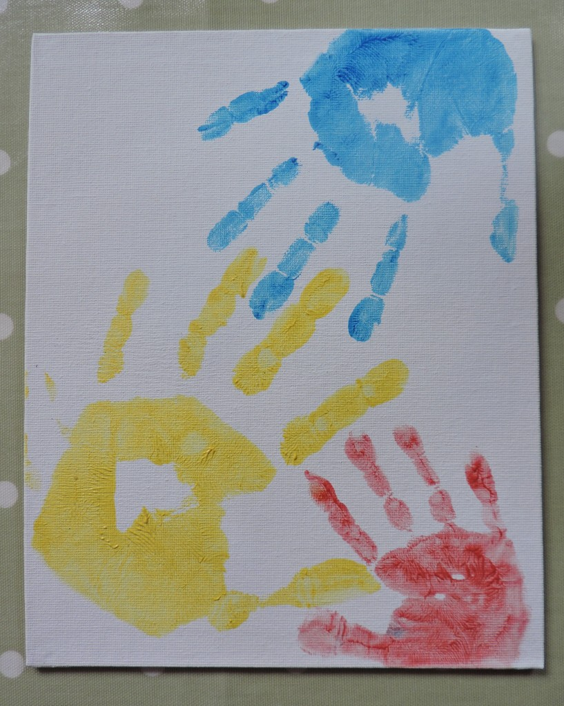 A trial run to see how the handprints looked